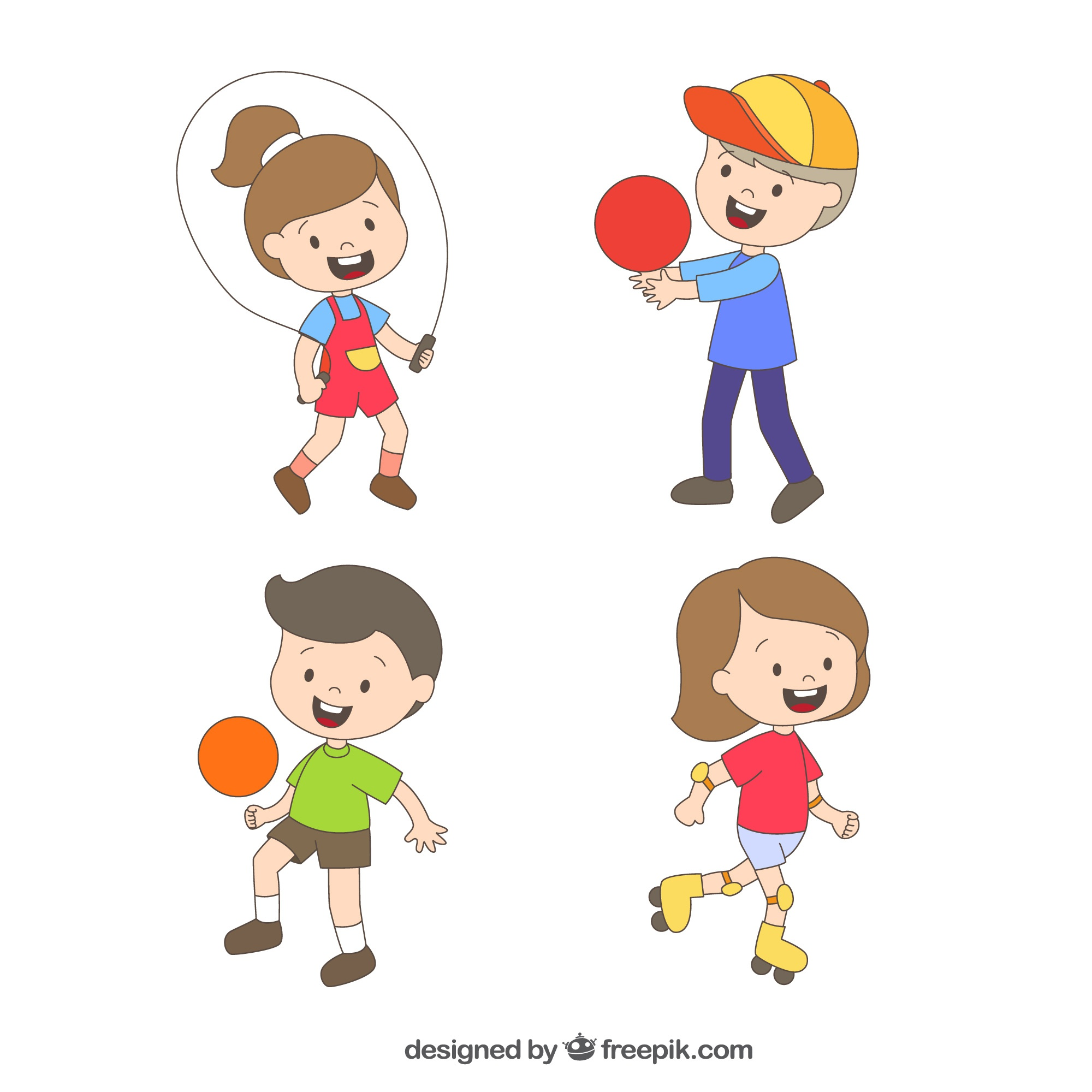 Four lovely children playing