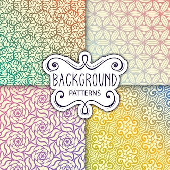 Four nice backgrounds with patterns