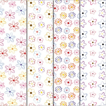 Four nice floral patterns