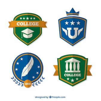 Four-pack badges college
