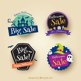 Four-pack sale halloween stickers