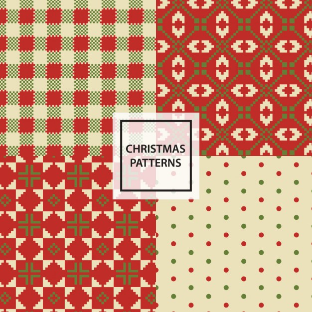 Four patterns for christmas