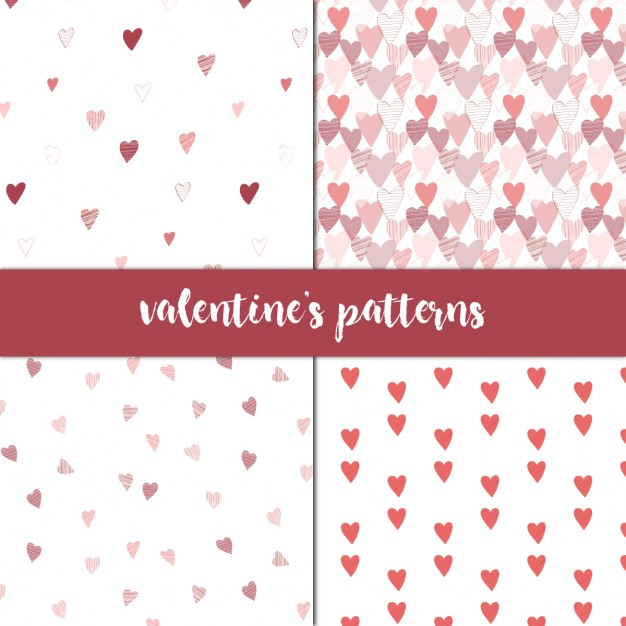 Four patterns for valentines
