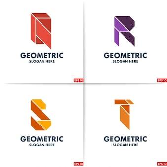 Four polygonal logos