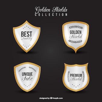 四のプレミアム金色の盾
