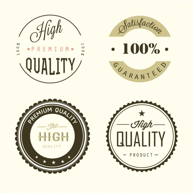 Four quality badges