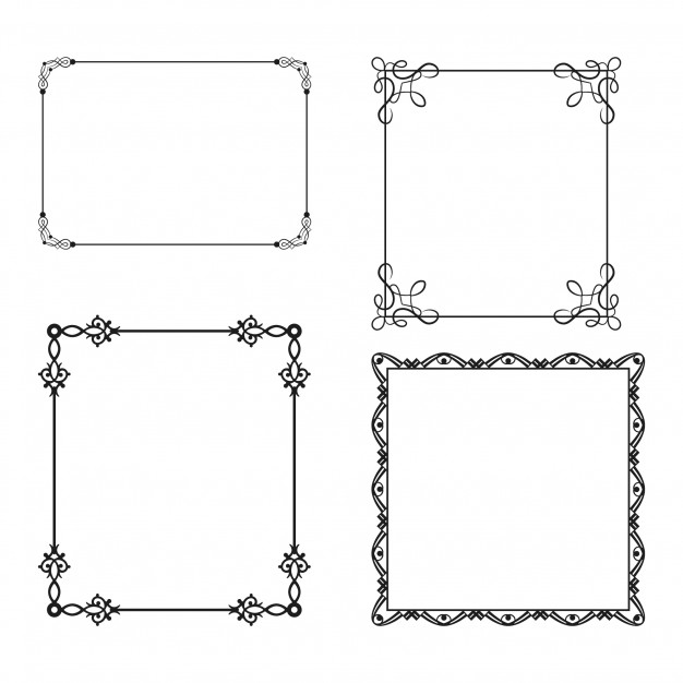 Four simple ornamental frames