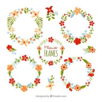 4つのヴィンテージ花輪の花輪セット