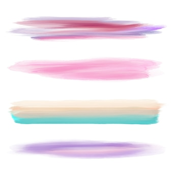 Four watercolor brushes