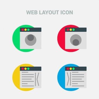 Four web layout icons