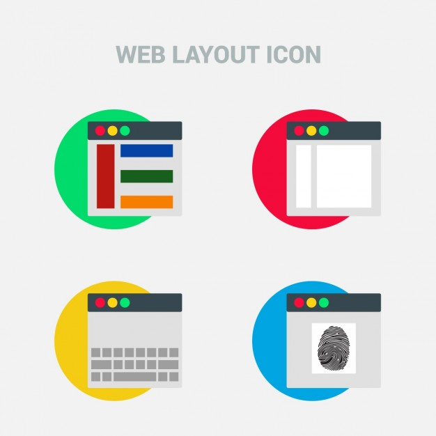 Four web template icons