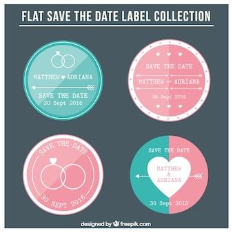 Four wedding labels
