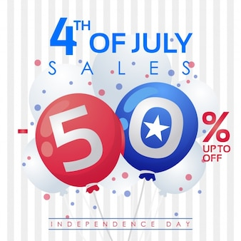 Fourth of july 50% discount