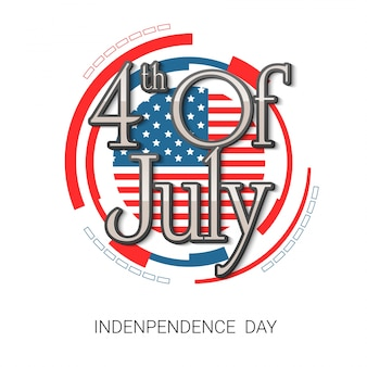 Fourth of july background rounded design