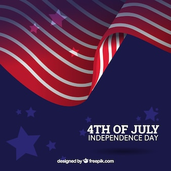 Fourth of july background with abstract american flag