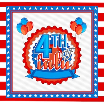 Fourth of july background with balloons