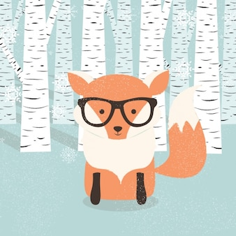 Fox background design
