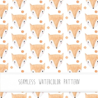 Foxes watercolor pattern