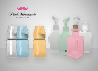 Fragrance bottles vector objects