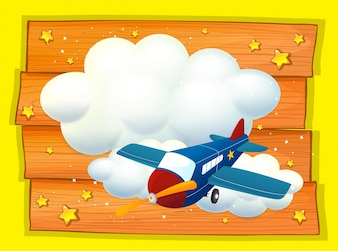 Frame design with airplane flying