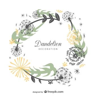 Frame design with dandelions
