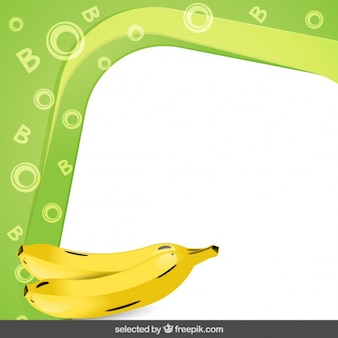 Frame with bananas
