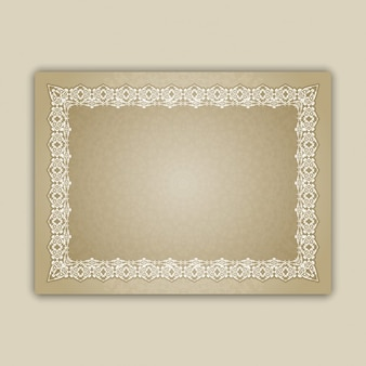 Frame with decorative borders
