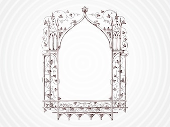 Frame with floral decorations