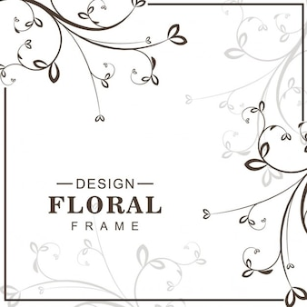 Frame with floral lines