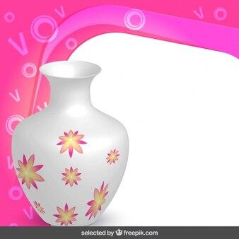 Frame with floral vase