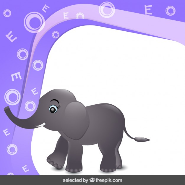 Frame with funny elephant