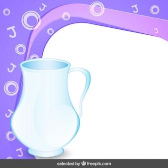 Frame with jar