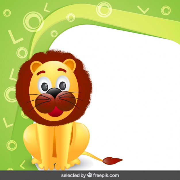Frame with lion