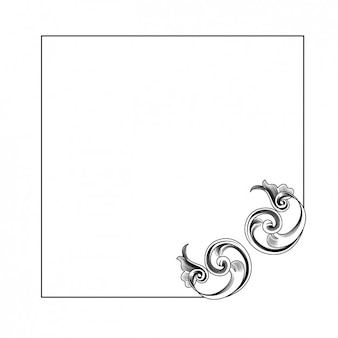 Frame with ornament design