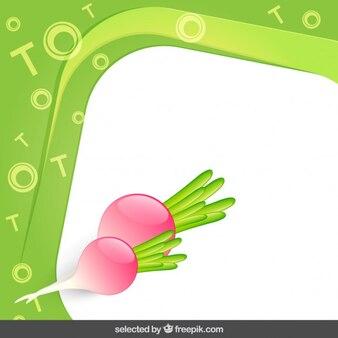 Frame with radish