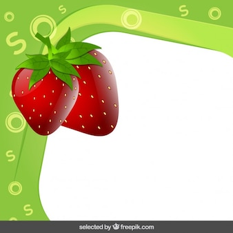 Frame with strawberry