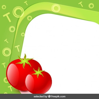 Frame with tomatoes