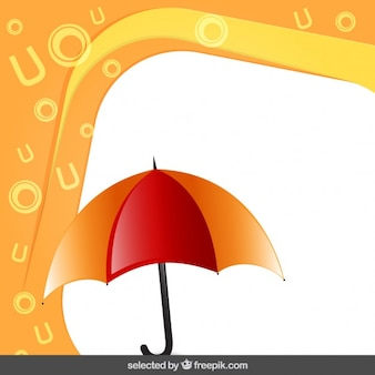 Frame with umbrella