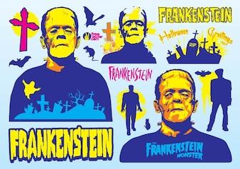 Frankenstein characters vector