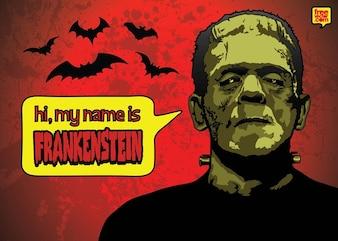 Frankenstein halloween vector