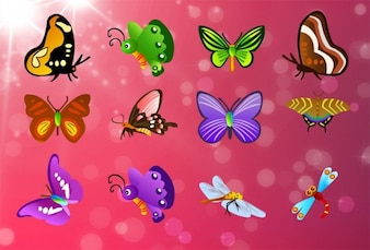 free butterfly vector set