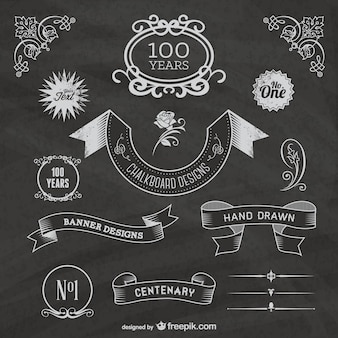 Free chalkboard centenary celebration