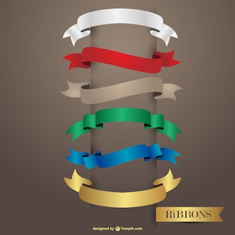 Free glossy multicolored ribbons design