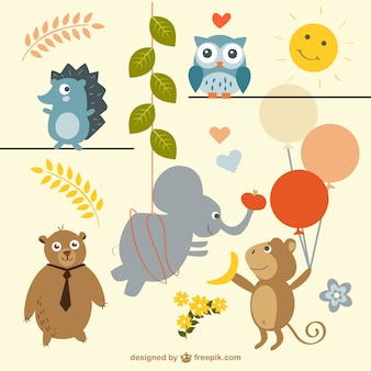 Free party animals vector