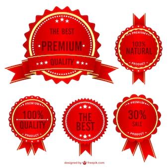 Free quality shopping badges set