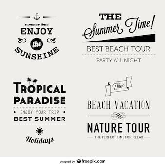 Free summer lettering set