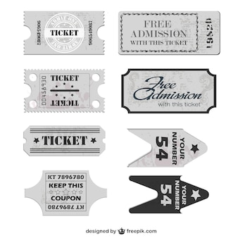 Free tickets vector template