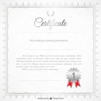 Free vector certificate template