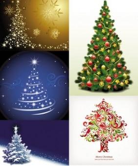 free vector exquisite christmas tree