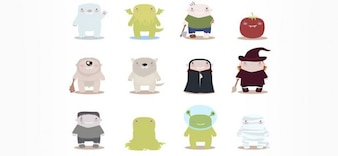 free vector monster mascots